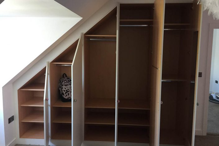 Sloping wardrobes maximise your storage